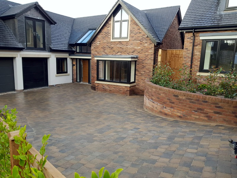 Driveways, block paving, pattern imprint concrete, Chester